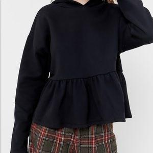 UO Hooded Peplum Sweatshirt